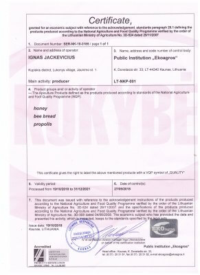 medaus sertifikatas