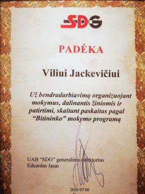 sertifikatas mokymai
