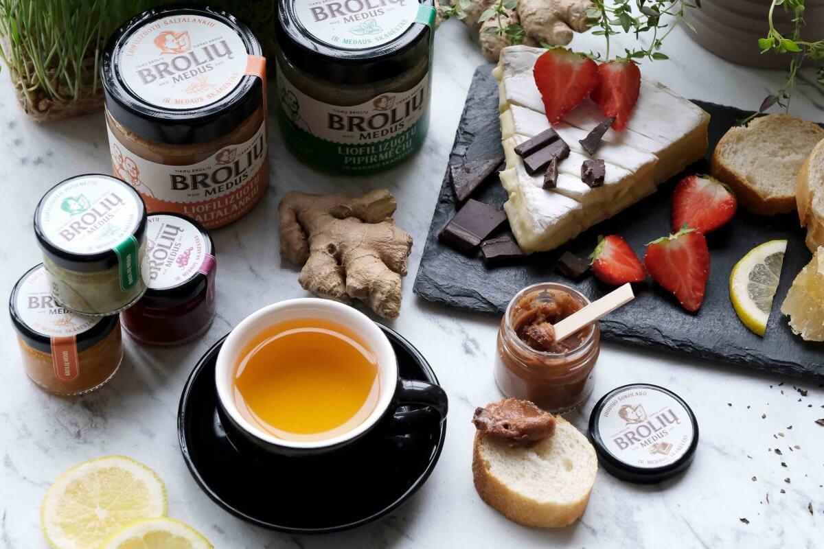 ciberžolė ir medus